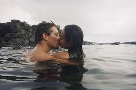 Precious asian couple making sweet love