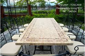 marble top patio table round outdoor stone mosaic throughout plan 10