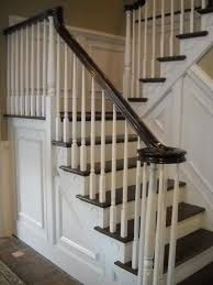 Stairs, Remarkable Wood Stair Balusters Interior Wood Balusters Black And  White Wood Stair: interesting ...