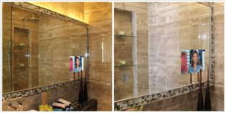 Tv Bathroom Mirror GLASS TV MAGIC MIRROR TV Behind a Mirror from