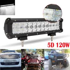 Service Truck Led Work Lights 120w 12inch 12000lm Led Light Bar 5d Auto Suv Combo For Vehicle Driving Lamp For Truck Suv Boat Atv Car Work Lights Clt_41i Best Portable Work Light