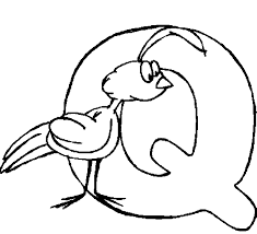 Small Picture Alphabet Q coloring page