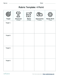 Rubric Template Microsoft Word Free Rubric Template Blank Spreadsheet Maker For Science