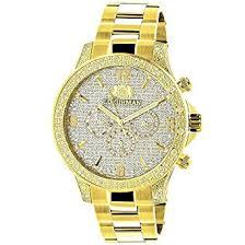 cheap gold diamond watch men gold diamond watch men deals on get quotations · luxurman liberty mens diamond watch 0 5ct yellow gold plated
