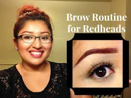 updated mac brow routine for redheads