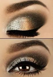 glitter golden smokey eyes makeup look with eyeliner beautiful date night makeup eyebrow makeup tips find this pin and more on 70 s disco