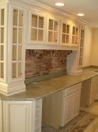 unique ideas for kitchen with brick backsplash awesome kitchen design using white kitchen cabinet designed