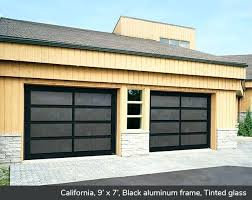 aluminum glass garage doors 9 x 7 black aluminum frame tinted glass aluminum and glass garage aluminum glass garage doors
