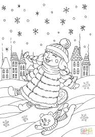 Printable January Coloring Sheets Winter Boots Pages To Print ...