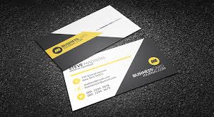 business card templates free clean yellow accent business card template