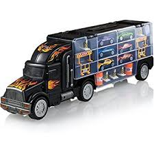 carrier toy. toy truck transport car carrier - includes 6 cars and accessories