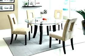 glass dining sets 6 chairs furniture s set