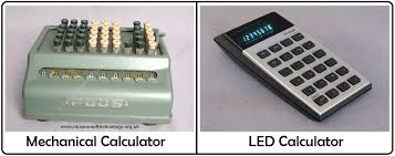 one such miniature was the led calculator which which was a paradigm shift from mechanical calculator to electronic calculator saving space