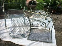 Repainting patio furniture