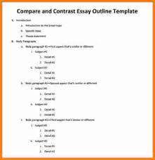 outline template cashier resume outline template compare and contrast essay outline template jpeg