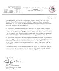 North Haven Recommendation Letter 1 Turtle Dance Music
