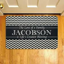 Custom Welcome Rugs Cool Personalized Welcome Mats Personalized