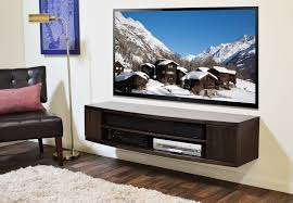 Floating Tv Stand Curved Floating Tv Stand The Curve Espresso Woodwaves