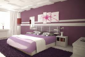 Purple And White Bedroom Bedroom Painting Pictures With Purple And White For Young Couple