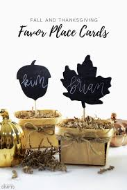 Fall Place Cards Place Card Favors Easy Fall Thanksgiving Diy Consumer