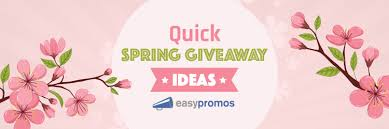 quick spring giveaway ideas to help