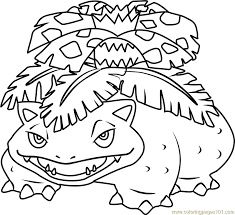 Small Picture Venusaur Pokemon Coloring Page Free Pokmon Coloring Pages