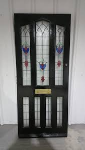 vintage stained glass front door
