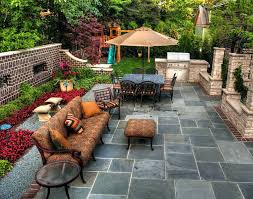 square patio designs. Landscaping And Patio Design Ideas Rustic Modern Backyard House With Stone Floor Tiles Square Blue Paver Designs