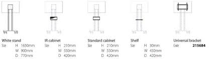 Tv Stand Size Chart Metroplan Secure Mobile Tv Stands