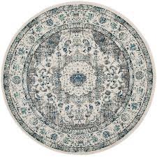 home interior surprise 9 ft round area rug safavieh evoke gray ivory 5 x evk220d