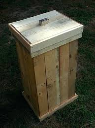 Wooden Trash Can Pallets Wooden Trash Can Diy Wooden Kitchen Trash Can