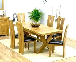 oak extendable dining table round