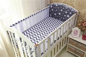 5pcs set baby crib per baby cot baby bed protector baby bedding set pillowcase flat sheet quilt cover stripes stars