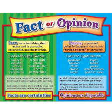 Fact Vs Opinion Anchor Chart Fact And Opinion Lessons Tes Teach