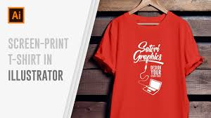 How To Make A Tshirt Design Using Illustrator How To Design Screen Print T Shirts In Illustrator