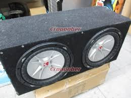 KICKER BOX With Woofer 9 Inches X 2   Sub Woofer with BOX
