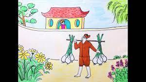 Vẽ tranh đề tài minh họa truyện cổ tích - Ai mua hành tôi? -  giasubachkhoa.net