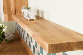 Light Oak Floating Shelves