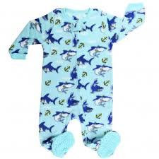 baby boy sleepwear pajamas sophia s style elowel baby boys blue shark print zipper footed fleece sleeper pajama 12 24m