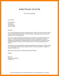 Resume Follow Up Letter Template Sample Follow Up Email After