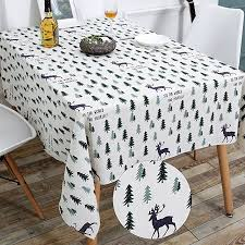 wimaha 52x70in decoration rectangle tablecloth for rectangular table cotton linen fabric table cloth cover topper