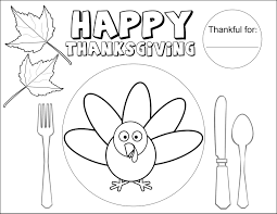 Thanksgiving Coloring Placemats Printable Coloring Page For Kids