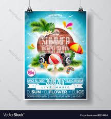Beach Flyer Summer Beach Party Flyer Design Royalty Free Vector Image