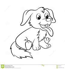 Libro Da Colorare Del Cane Illustrazione Vettoriale Illustrazione