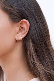 Huggie Hoop Earrings Size Chart Dainty Square Edges Huggie Hoop Earrings Two Sizes 9 And