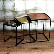 copper nest of tables nest of tables copper marble nest of tables white and copper nest of tables
