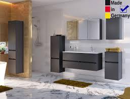 Badezimmer Britt 30 Dunkelgrau 6 Teilig Waschtisch 3d Spiegelschrank