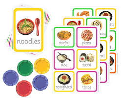 Food Flash Cards Lotto Game With Flashcards Food Of The World Little Linguist