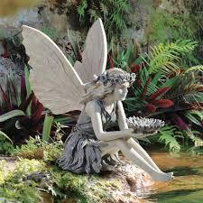 fairy garden statues. The Sunflower Fairy Statue Garden Statues