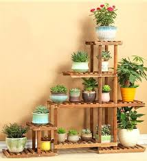 indoor plant shelf 6 tier versatile indoor plant shelf decorative wood plant stand plant holder indoor